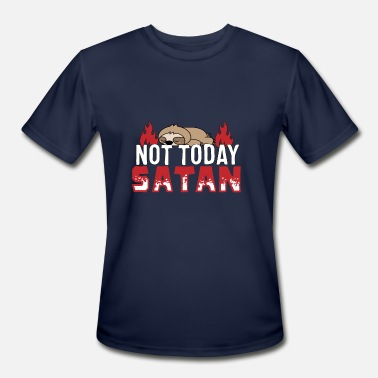 Root Religion Religion Sloth Not Today Satan - Men's Moisture Wicking Performance T-Shirt