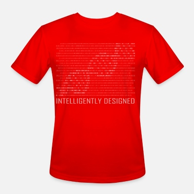 Intelligent Intelligently Designed Binary Code T-Shirt - Men's Sport T-Shirt