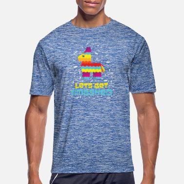 Funny Birthday Pinata Smashed Mexico Papier Mache Drink Gift Idea - Men's Sport T-Shirt