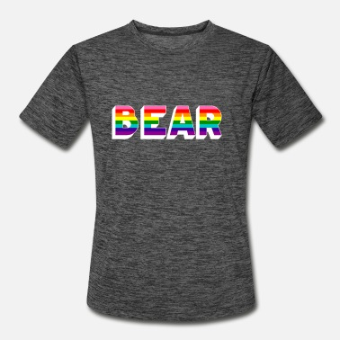 Homosexuality RAINBOW FLAG BEAR OTTER GAY PRIDE LGBT HOMOSEXUAL - Men's Sport T-Shirt