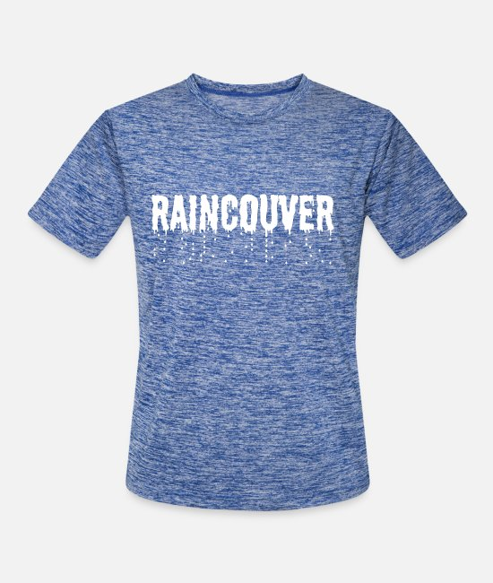 Weather T-Shirts - Vancouver Raincouver - Men's Sport T-Shirt heather blue