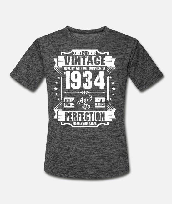 Sticker T-Shirts - Vintage 1934 Perfection - Men's Sport T-Shirt dark heather gray