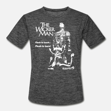 Burning The wicker man - Flesh to touch Flesh to burn tee - Men's Sport T-Shirt