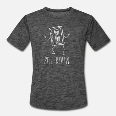 Audio 70s 80s 90s Cassette Still Rollin Drawing Gift - Men's Sport T-Shirt