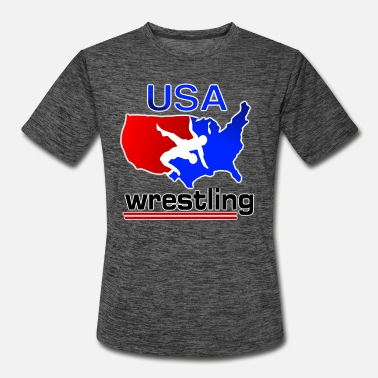 Freestyle Team USA Wrestling - Men's Sport T-Shirt