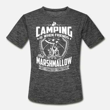 Frame Camping – When friends and marshmallow get toast - Men's Sport T-Shirt