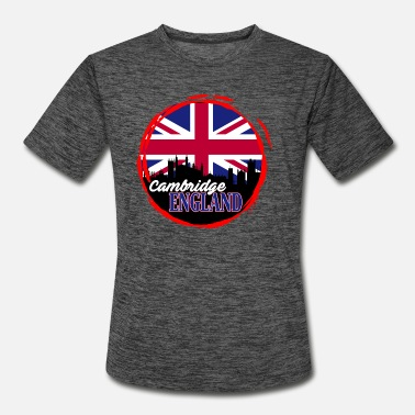 Cambridge product British Flag Cambridge UK Themed Gifts - Men's Sport T-Shirt