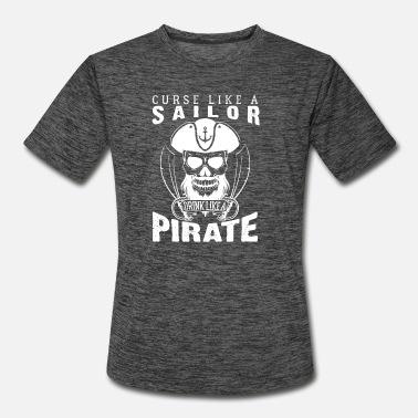 Curse Like A Sailor Drink Like A Pirate Skull Sword Mens T-Shirt