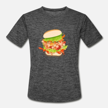shrimp poboy sandwich burger - Men's Sport T-Shirt