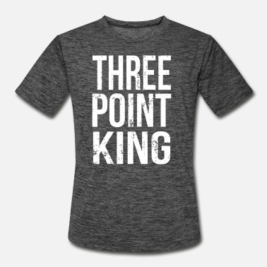 Point Basketball - Funny Three Point King Basketball - Men's Sport T-Shirt