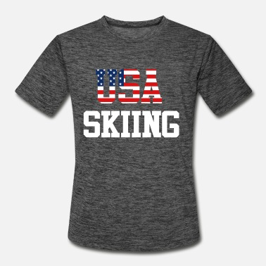 USA Skiing Trendy Cool Sports Athlete American - Men's Sport T-Shirt