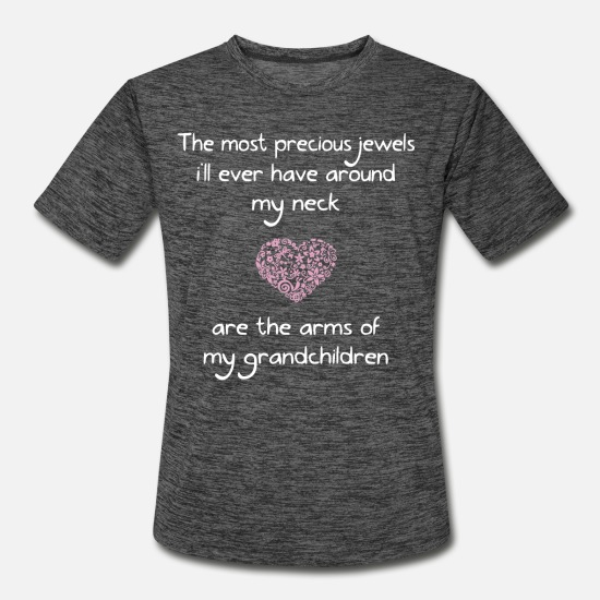 Precious T-Shirts - the most precious jewels I will ever have around m - Men's Sport T-Shirt dark heather gray