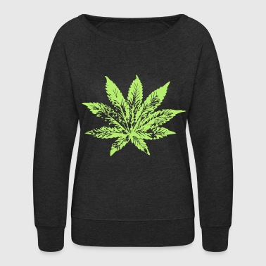 Hemp Leaf hemp leaf - Women's Crewneck Sweatshirt