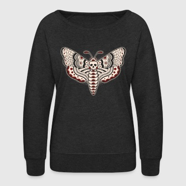 Death Head Moth Dark - Women's Crewneck Sweatshirt