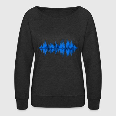 Sound Waves sound wave - Women's Crewneck Sweatshirt
