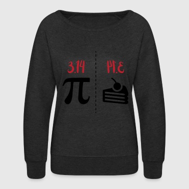 math symbols PI and PIE gift idea - Women's Crewneck Sweatshirt
