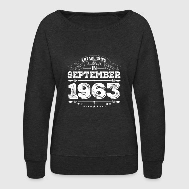 Established in September 1963 - Women's Crewneck Sweatshirt