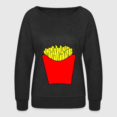 Currywurst french fries pommes frites fastfood fast food16 - Women's Crewneck Sweatshirt
