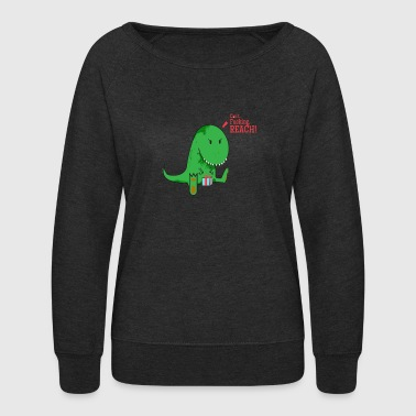 trex christmas - Women's Crewneck Sweatshirt