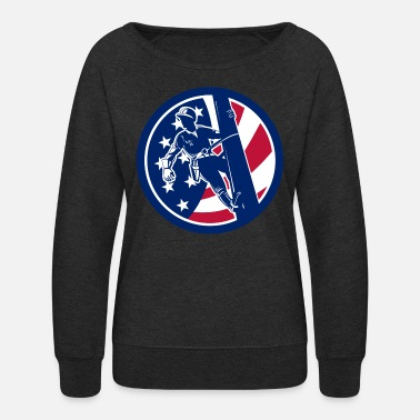 American Icon American Lineworker USA Flag Icon - Women's Crewneck Sweatshirt