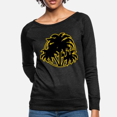 Palm Trees Palm trees - Women's Crewneck Sweatshirt