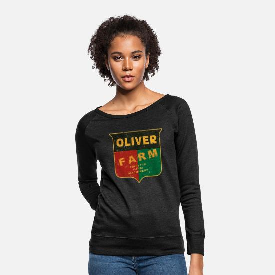 Oliver Hoodies & Sweatshirts - Oliver Farm Equipment - Women's Crewneck Sweatshirt heather black