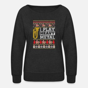 Tuba I Play Heavy Metal Ugly Christmas Sweater T S Womens Premium