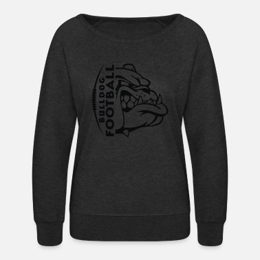 Purple Bulldog Football - Women's Crewneck Sweatshirt