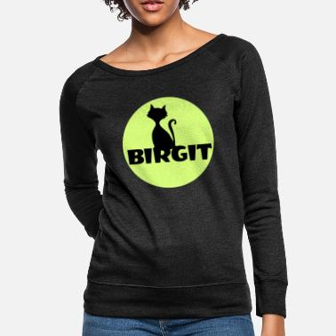 First Name Birgit Name first name - Women's Crewneck Sweatshirt