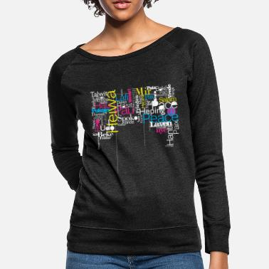 World language typographic color - Women's Crewneck Sweatshirt