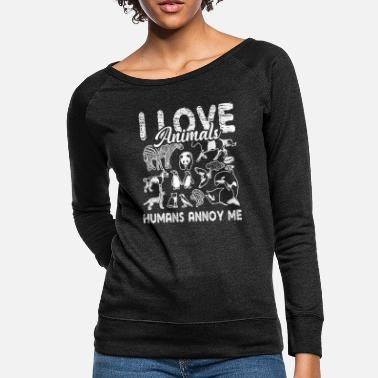 I Love Animal I Love Animals Shirt - Women's Crewneck Sweatshirt
