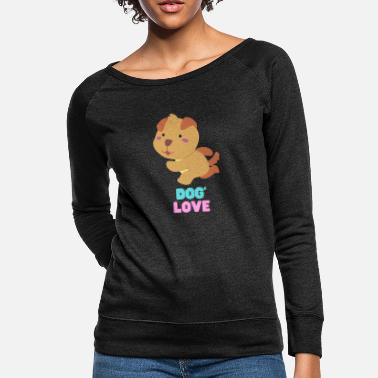 New Age Love dogs my family - Women's Crewneck Sweatshirt