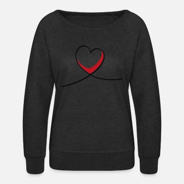 Heart Line Heart Love Sketch Lines - Women's Crewneck Sweatshirt