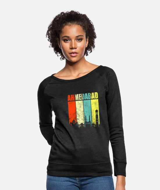 Ahmedabad Hoodies & Sweatshirts - Ahmedabad Hyderabad India - Women's Crewneck Sweatshirt heather black