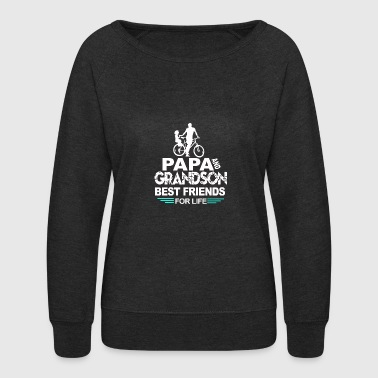 Papa and grandson - Women's Crewneck Sweatshirt