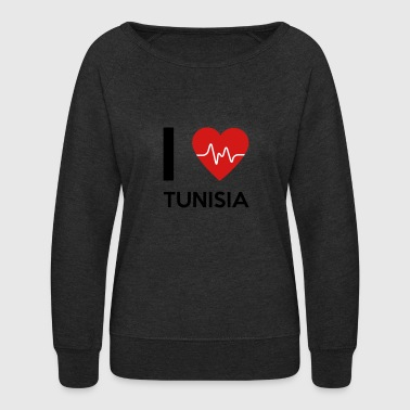 I Love Tunisia - Women's Crewneck Sweatshirt