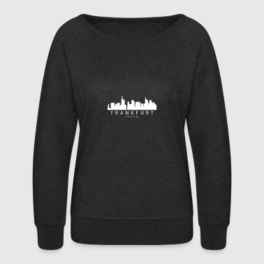 Frankfurt Germany Skyline - Women's Crewneck Sweatshirt