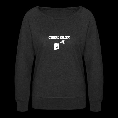 Cereal Killer Spoon At Cereal Box - Women's Crewneck Sweatshirt