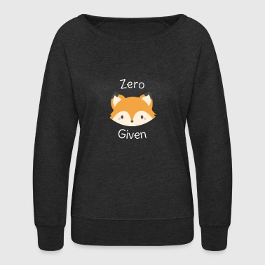 Whimsical Fox Pun - Women's Crewneck Sweatshirt