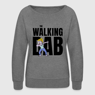 The Walking Dab Halloween zombie girl dabbing blck - Women's Crewneck Sweatshirt