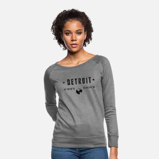 Funny Hoodies & Sweatshirts - Detroit - Women's Crewneck Sweatshirt heather gray