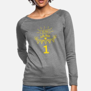 Children's Birthday Party Yeah I'm one birthday present for kids - Women's Crewneck Sweatshirt