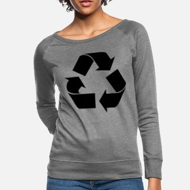 Recycle Logo Recycle Logo - Women's Crewneck Sweatshirt