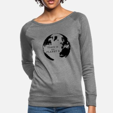 Planet b black - Women's Crewneck Sweatshirt