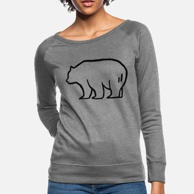 Brown Bear Bear - brown bear - Women's Crewneck Sweatshirt