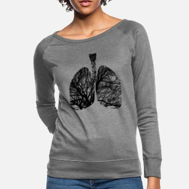 Lungs lungs - Women's Crewneck Sweatshirt