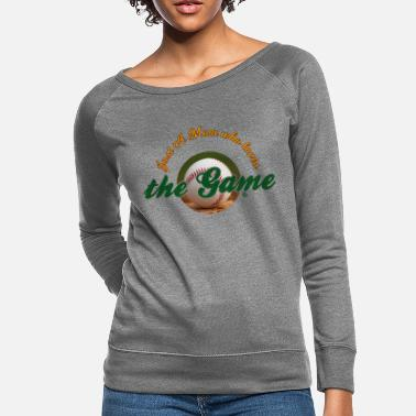 Just a mom who loves the game - Women's Crewneck Sweatshirt