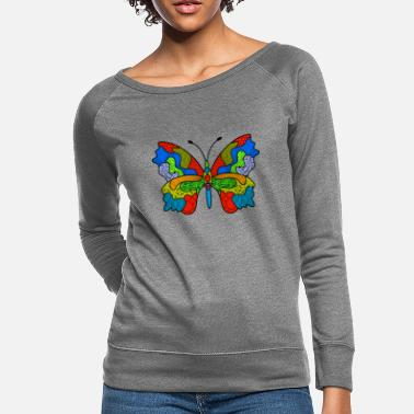 Abstract art Butterfly - Women's Crewneck Sweatshirt