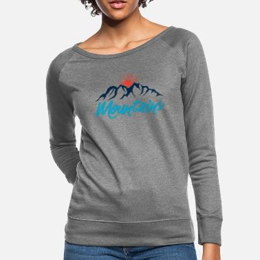 Mountains sunrise - Women's Crewneck Sweatshirt