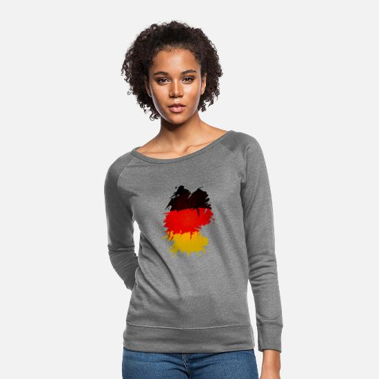 German Hoodies & Sweatshirts - Germany Flag - Women's Crewneck Sweatshirt heather gray